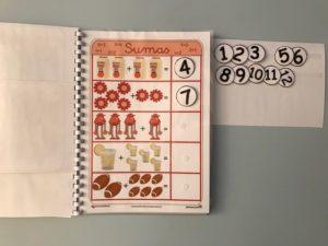quaderno candy,colori e addizioni