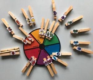 ruota colori e mollette